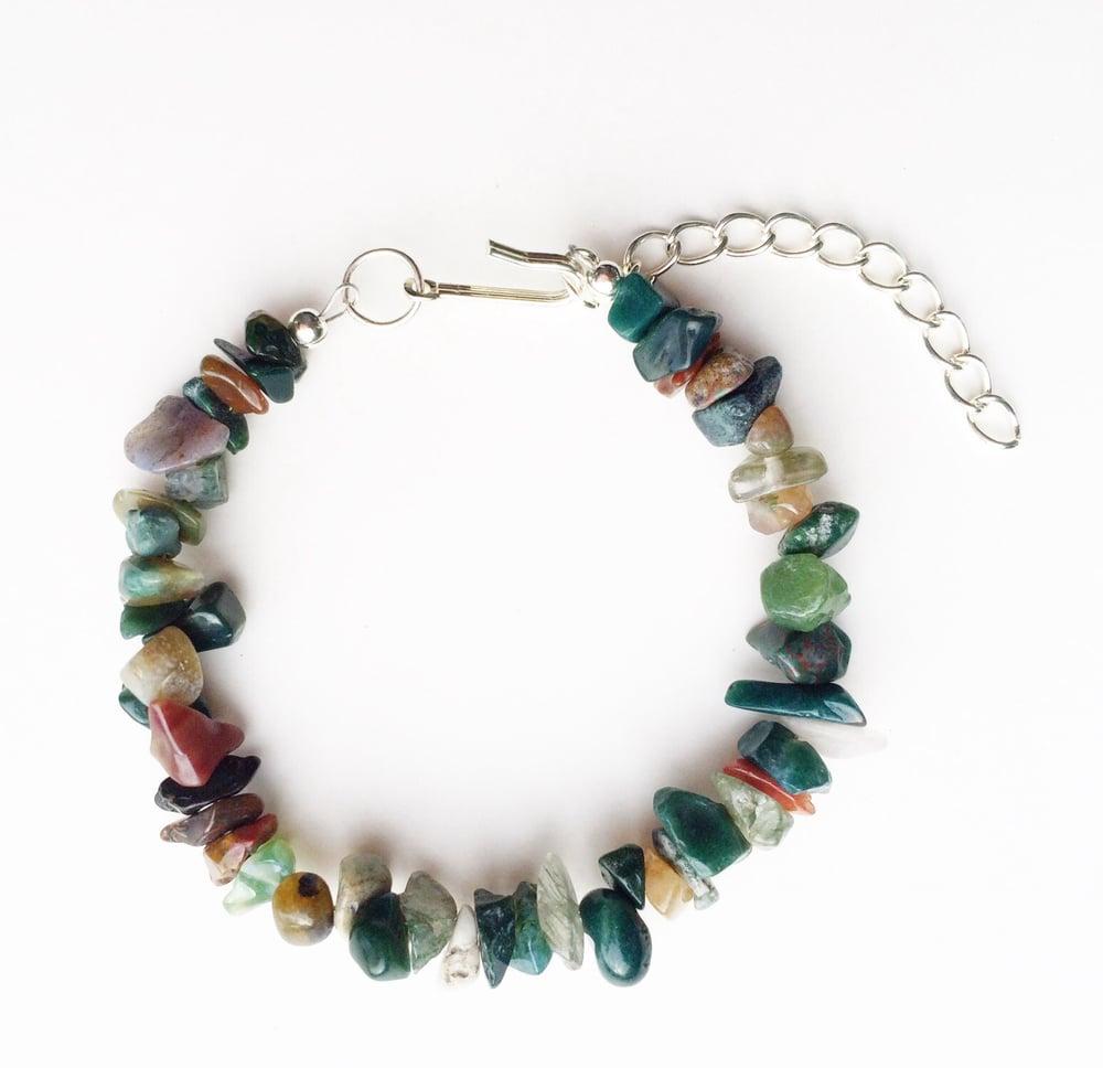Image of Gemstone Chip Bracelet