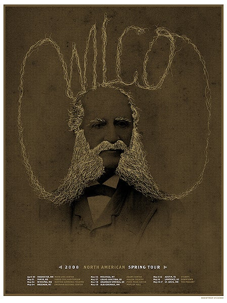 Wilco, North American Spring tour poster 2008