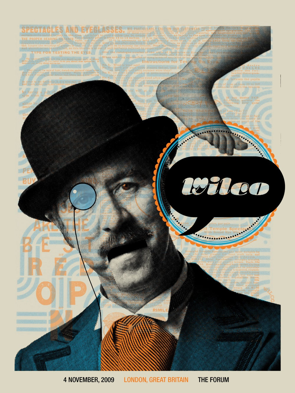 Wilco London, UK gig poster