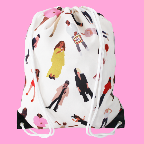 Image of Icons Drawstring Bag