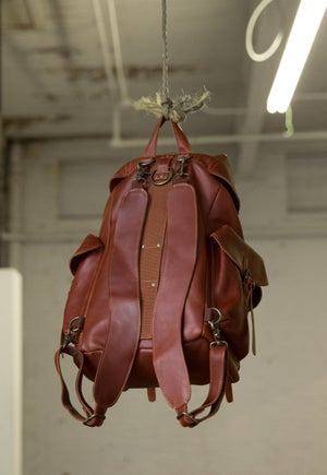 Image of Leather Rucksack