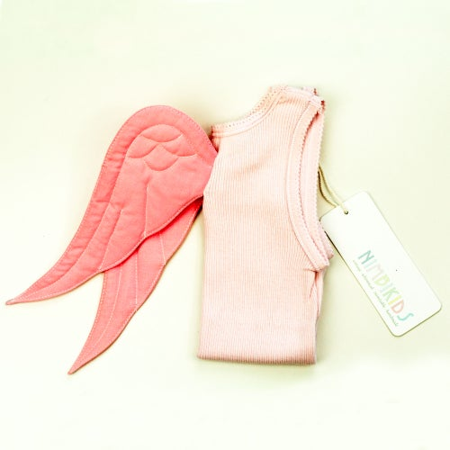 Image of Angel Wing Singlet - Pink on Pink