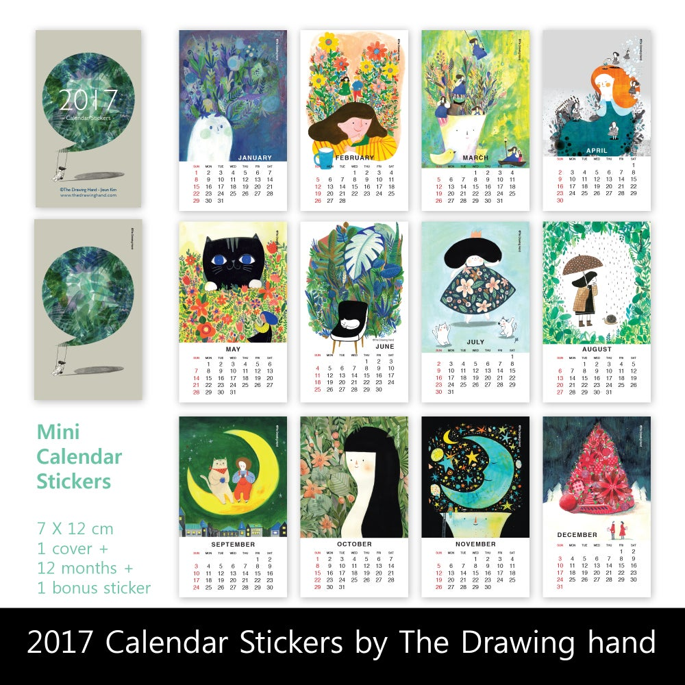 Image of 2017 Mini Calendar Stickers