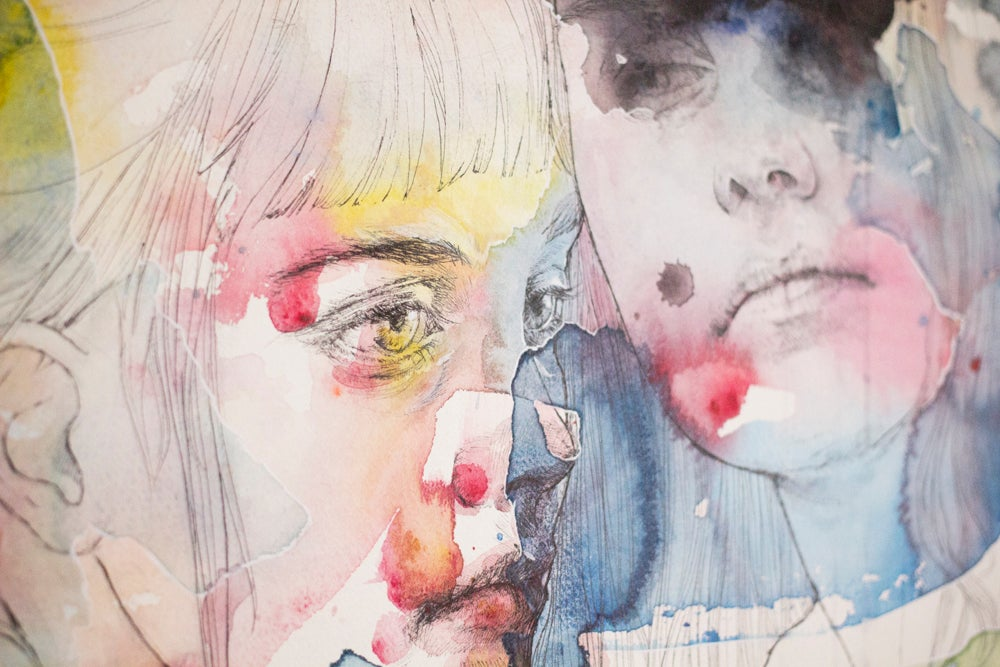 Agnes-Cecile looking for you in my own color wave