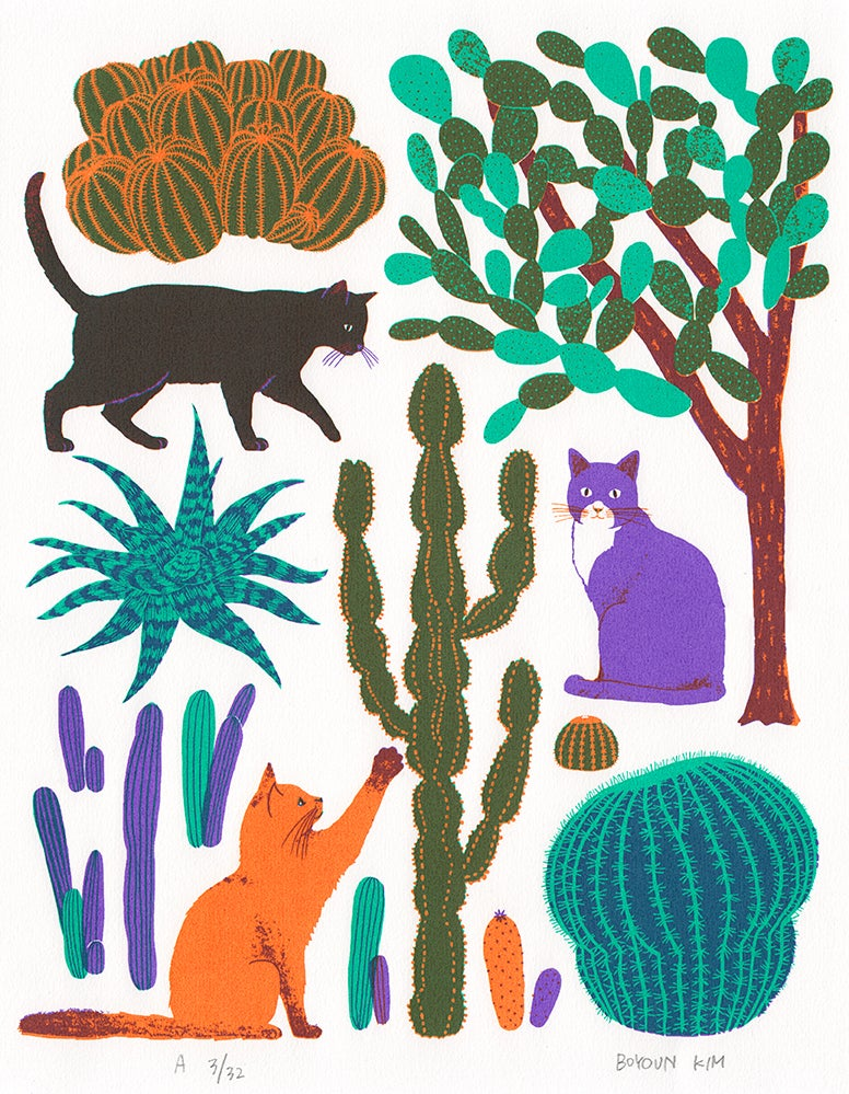 Image of Cats and Cacti