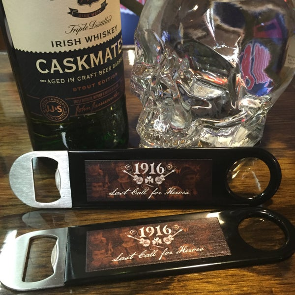 "Image of Collectible ""Last Call for Heroes"" bottle opener"