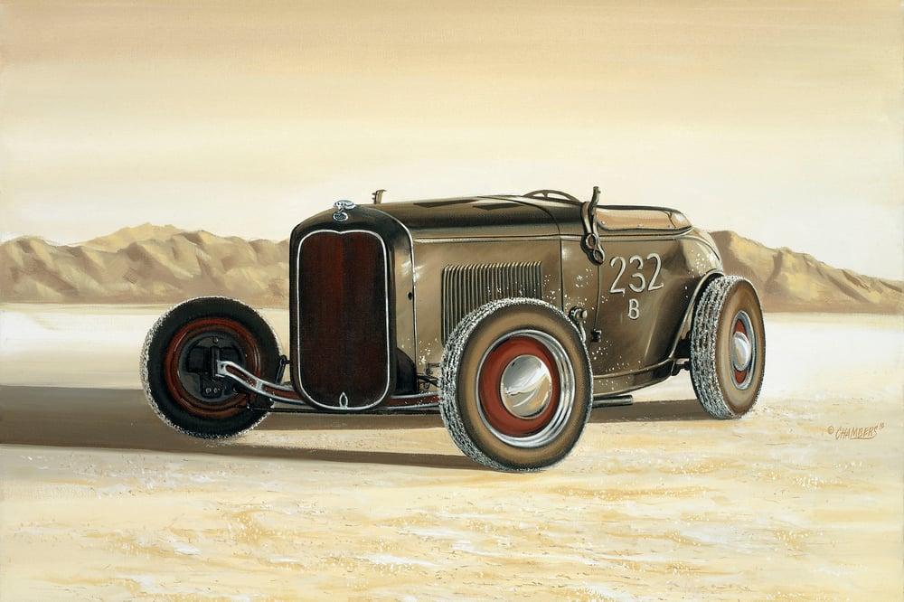 Image of Salt Flats Roadster / Metal Print
