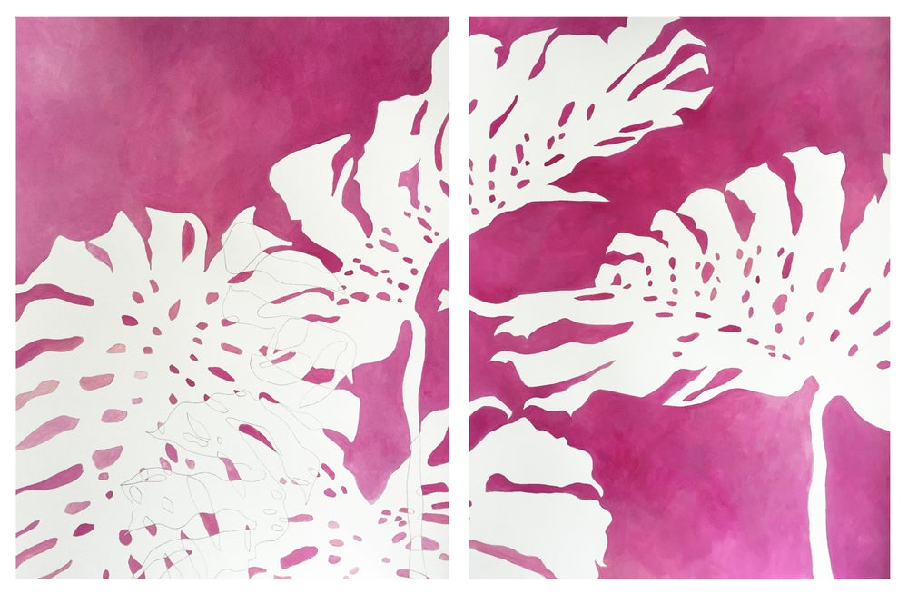 Image of Monstera Diptych No 33