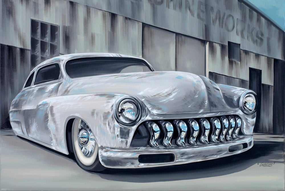 Image of Merc Lead Sled / Metal Print