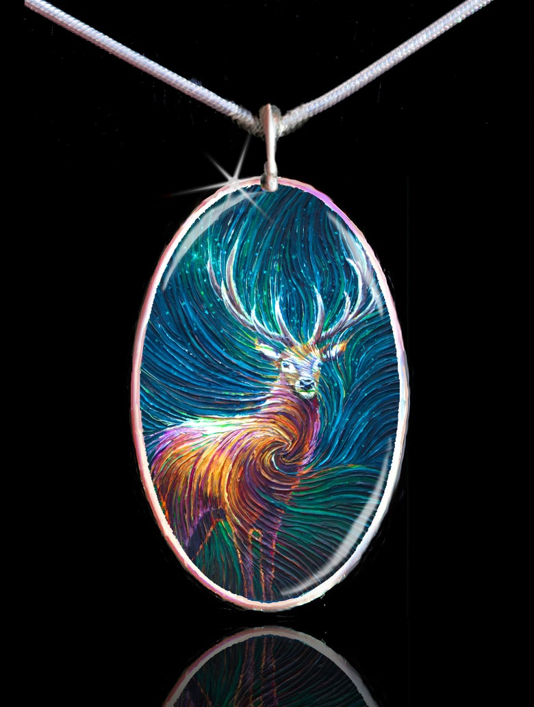 Image of Red Stag Energy Pendant