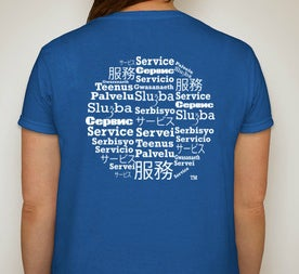 Image of Global Year of Service Tee Blue