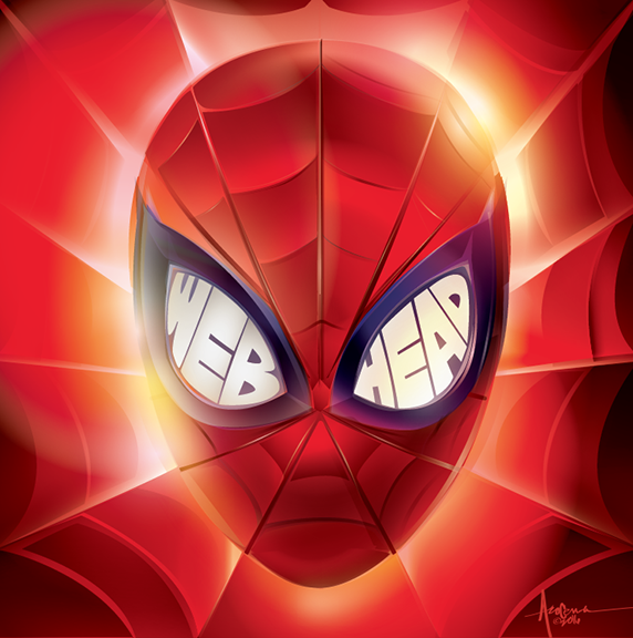 Image of WEBHEAD-Spiderman-24x24 Eition of 50-2016