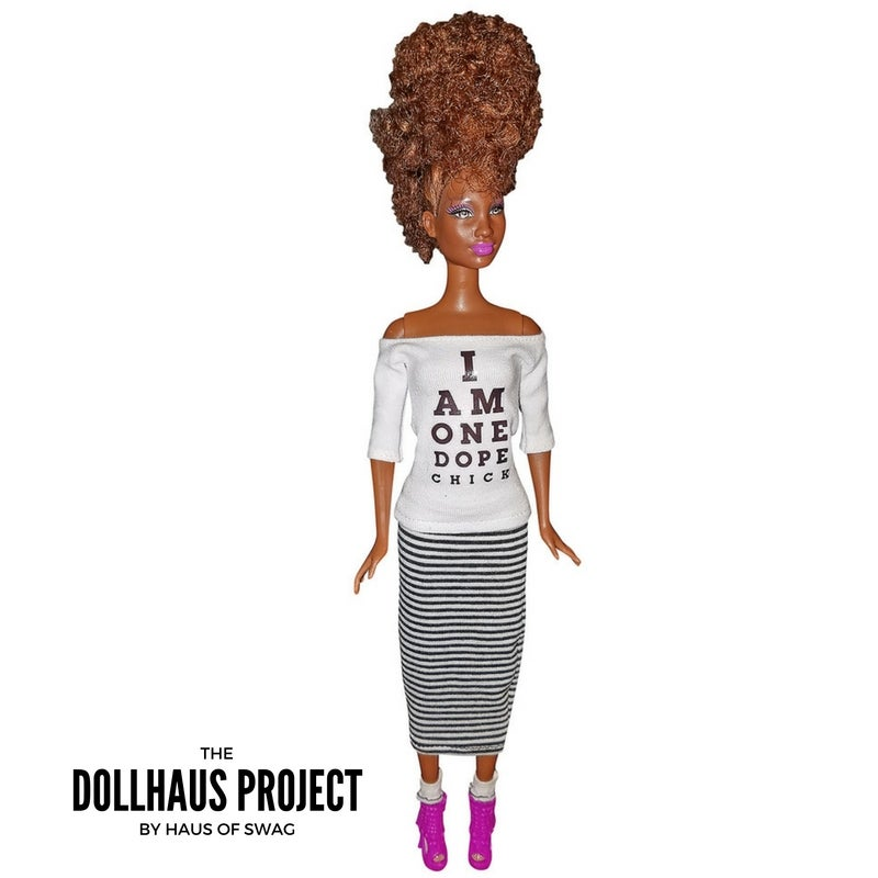 Image of I Am One Dope Chick, Tapered Cut | Fashion Collector Doll