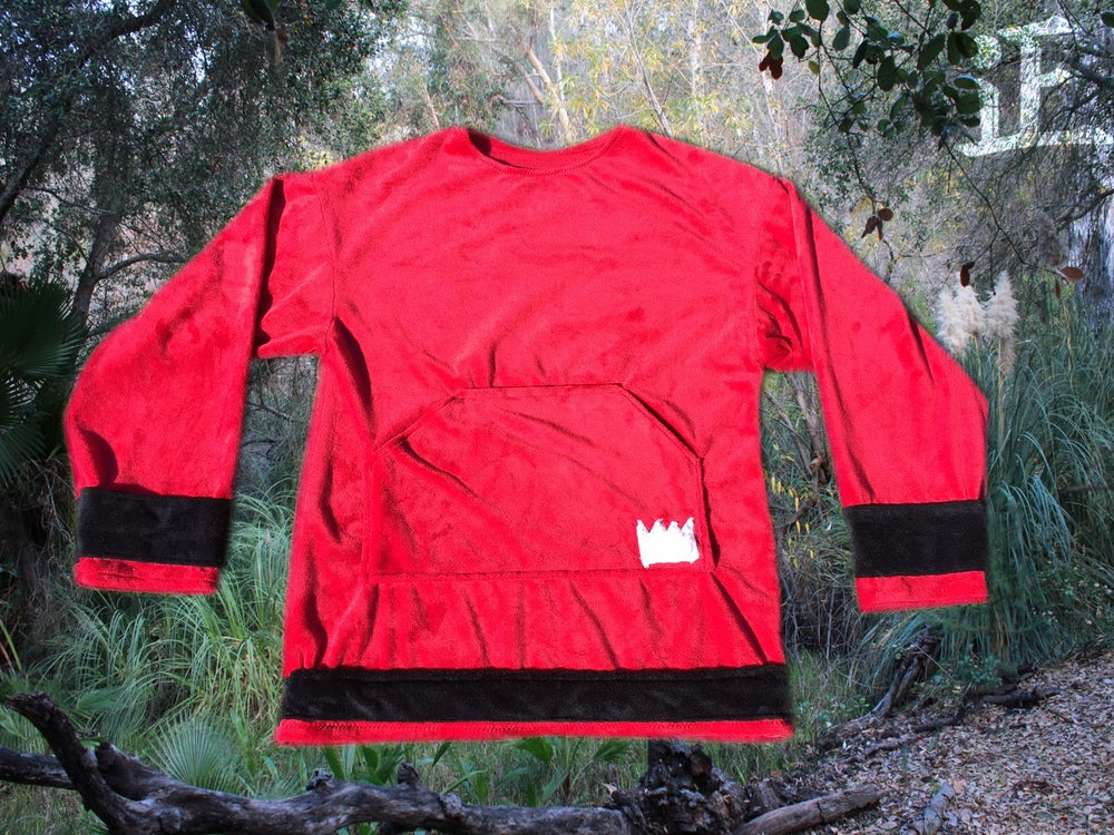 Image of Crimson Red Minky Crewneck