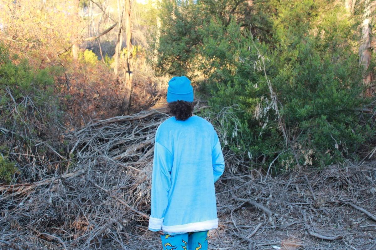 Image of Light Blue Minky Crewneck
