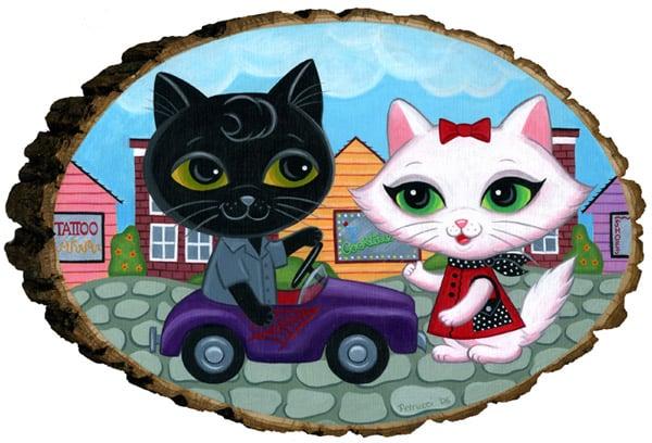 Image of Lisa Petrucci 'Goin my Way' Best Friends original art