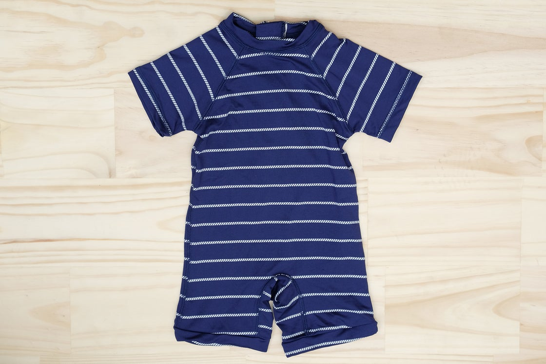 Image of KIDS SWIM - SAILOR SWIMSUIT - NAVY ROPE