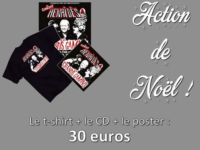 "Image of T-shirt + CD + poster ""Henri Dès & Ze Grands Gamins"""