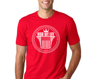 Image of Red High Off Life Classic Logo T-Shirt