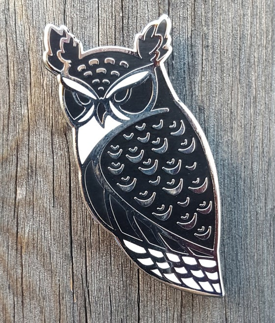 Image of Horned Owl Lapel Pin