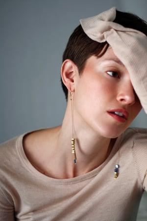 Image of Dip blue Earrings