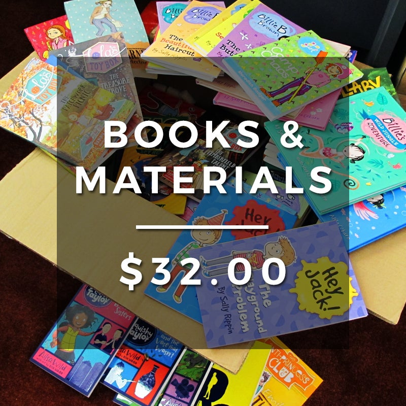Image of Books & materials for our Learning Support Program