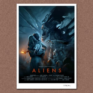 Image of Aliens (alternative) Poster