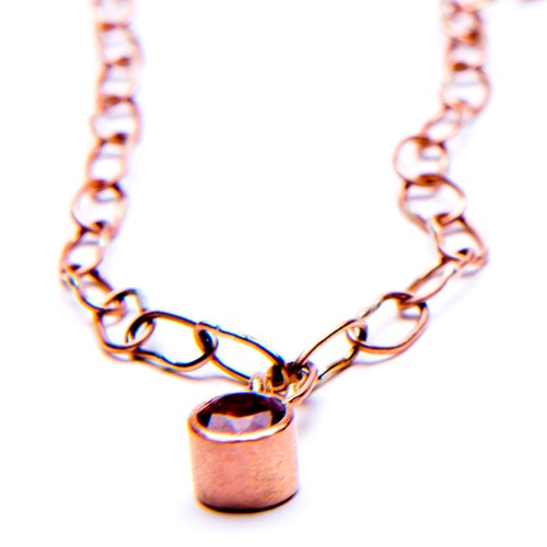 Image of Drishti Necklace 9kt Rose Gold Sapphire