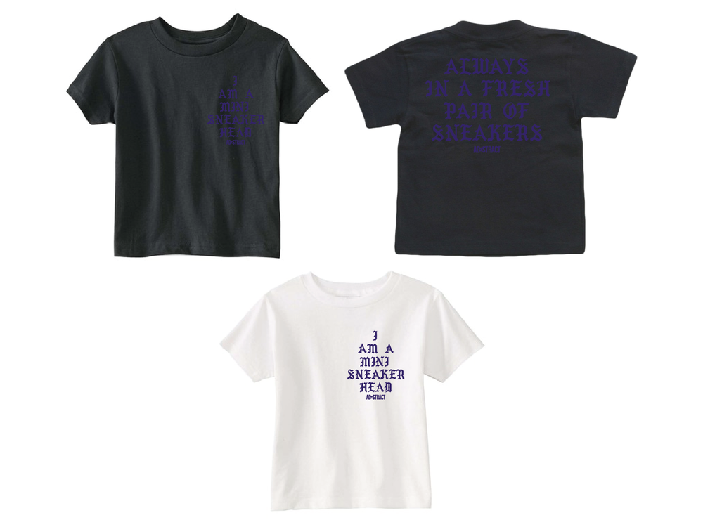 "Image of I AM A MINI SNEAKERHEAD ""PURPLE"" (TODDLER T-SHIRT)"