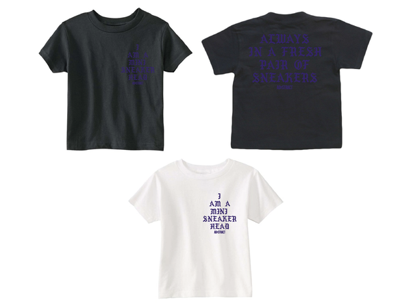 "Image of I AM A MINI SNEAKERHEAD ""PURPLE"" (TODDLER T-SHIRT & INFANT ONESIE )"
