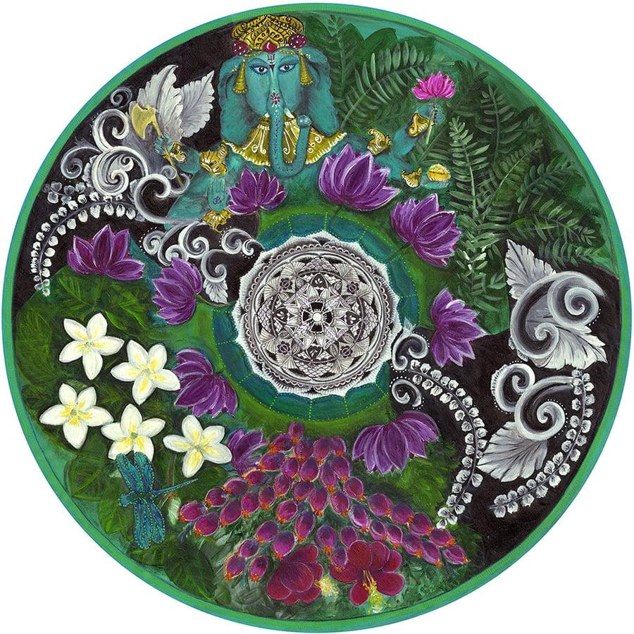 "Image of ""Spiritual opening""- Bali Bliss Meditation mat (Giclee art print)"