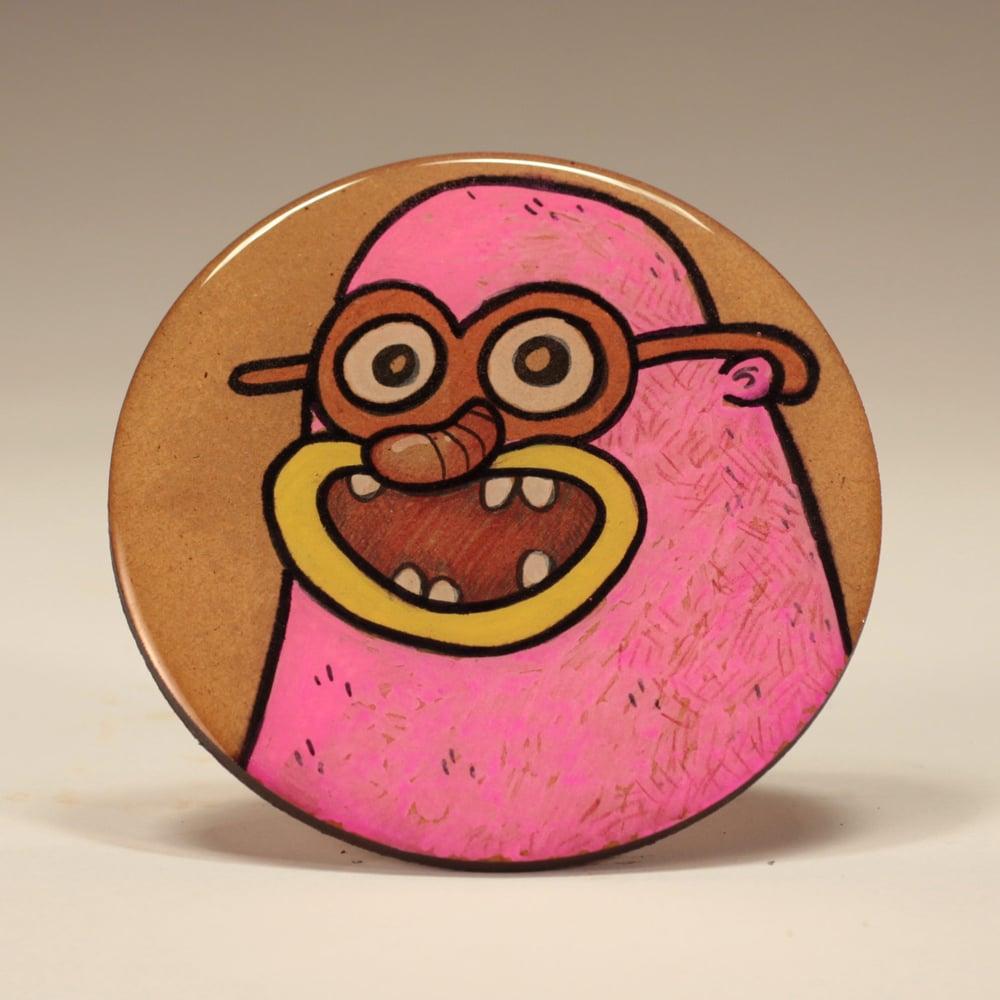 Image of Handmade 4 inch Round 'Meep!' Coaster