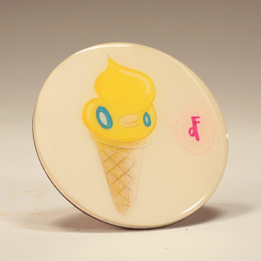Image of Handmade 4 inch Round 'Vanilla Ice' Coaster