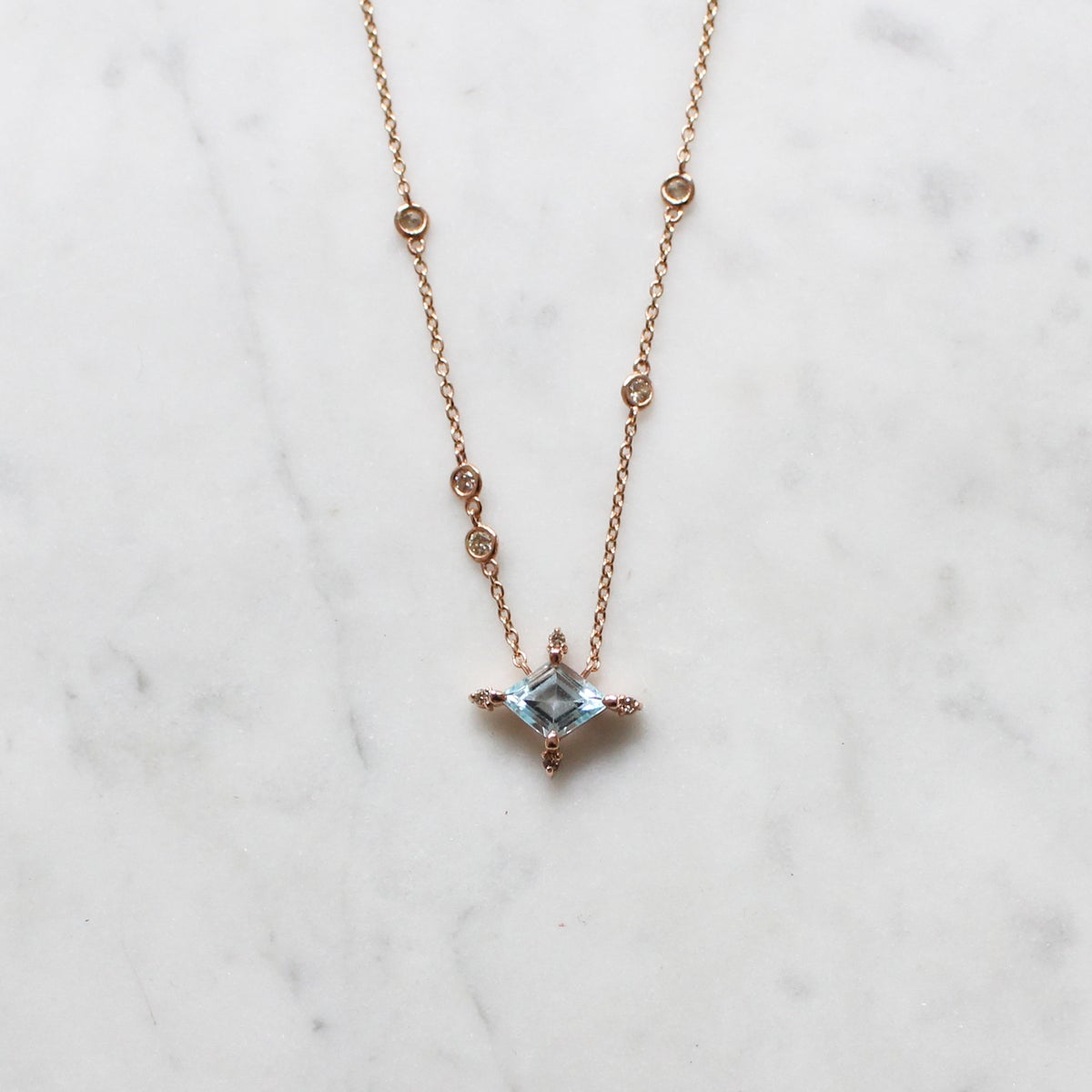 Image of Winter Forest Blue Topaz Necklace