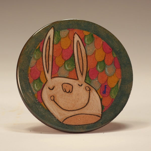 Image of Handmade 4 inch Round 'Sleep Wins' Coaster