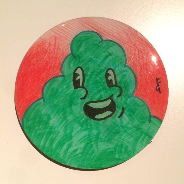 Image of Handmade 4 inch Round 'Green Glob' Coaster