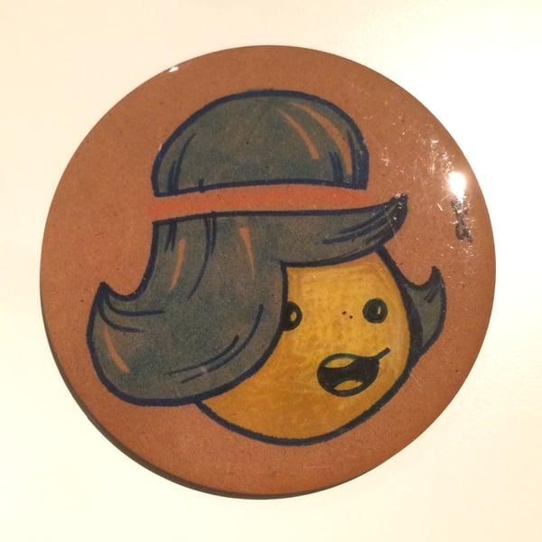 Image of Handmade 4 inch Round 'Ha!' Coaster