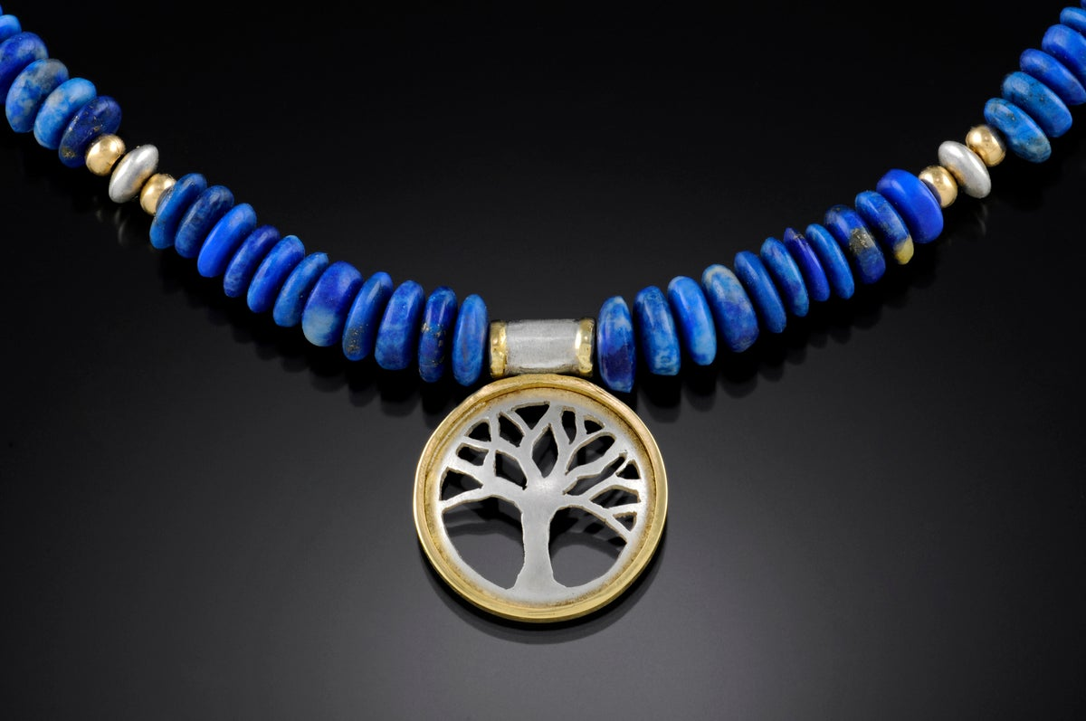 Image of Tree on Lapis Necklace