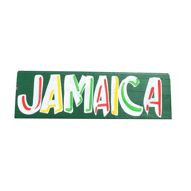 "Image of ""Jamaica"", Green / Rasta by Nurse Signs"