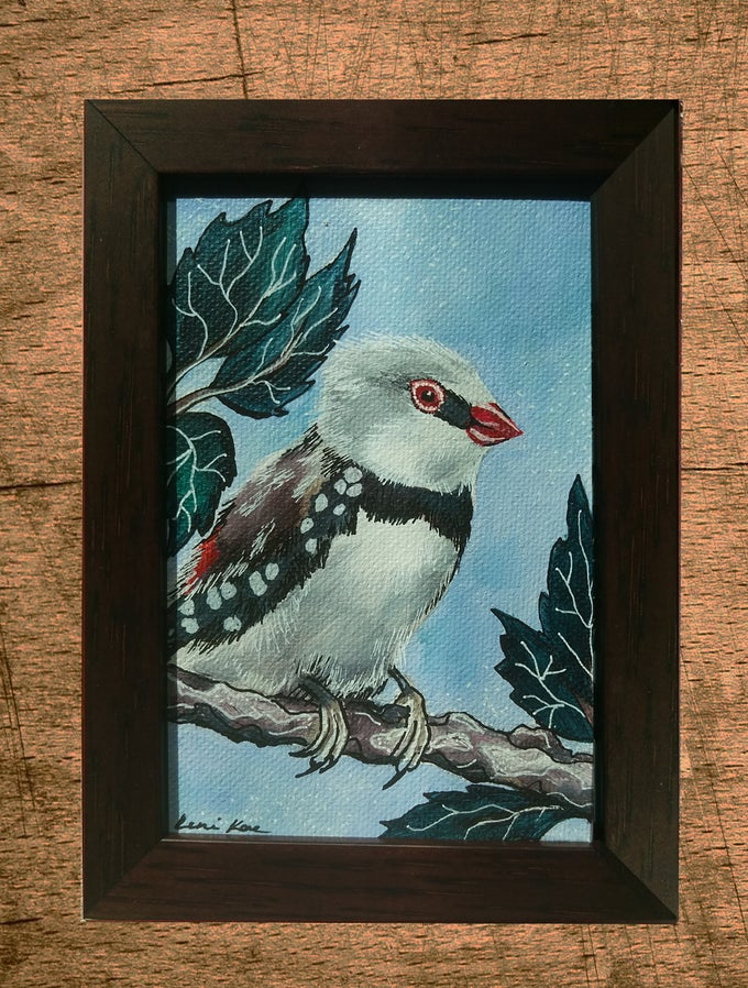 Image of Original Painting: Firetail Finch (Mini Art)