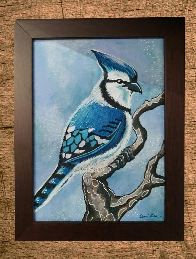 Image of Original Painting: Blue Jay (Mini Art)
