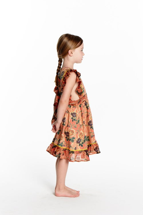 Image of Sunday Pinafore Dress - Wild Rose