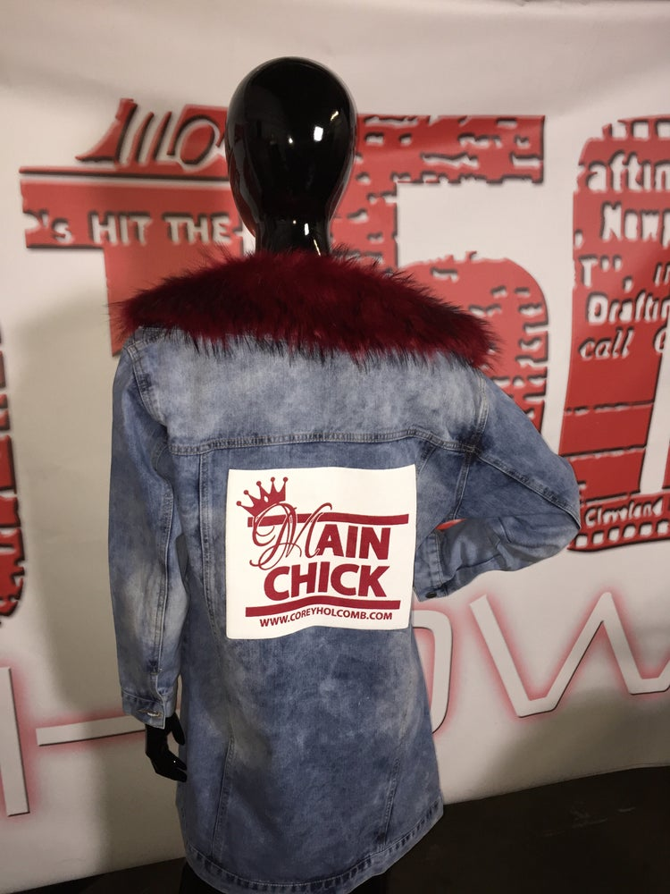Image of Main Chick Denim jacket/Removable FurCollar