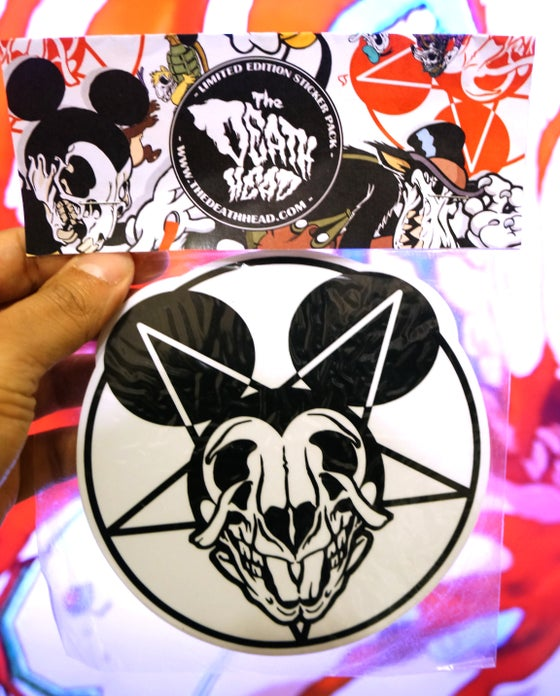 Image of Baphomet Mickey Sticker Pack