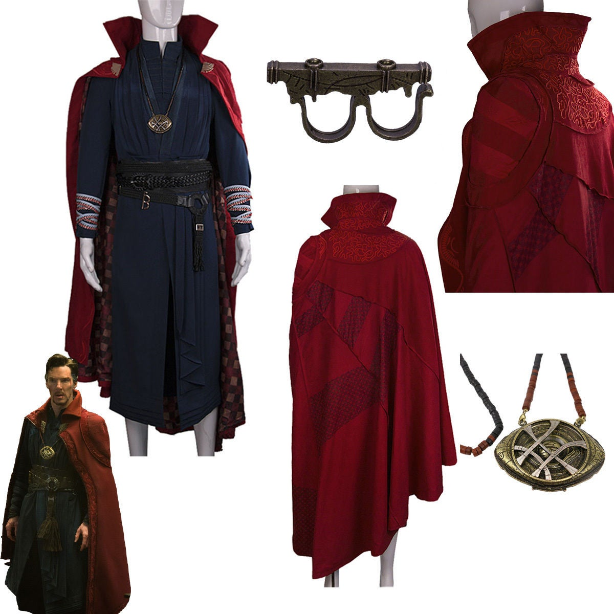 cosyfun n stuff dr strange necklace ring cloak of levitation