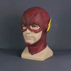 Image of The Flash TV Series Full Face Mask Barry Allen Hood for Cosplay