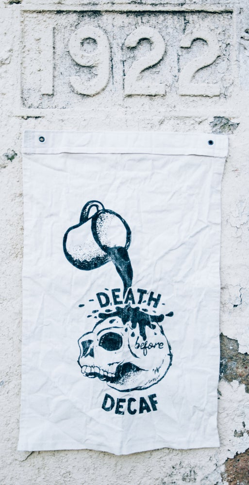 Image of Death Before Decaf Flag