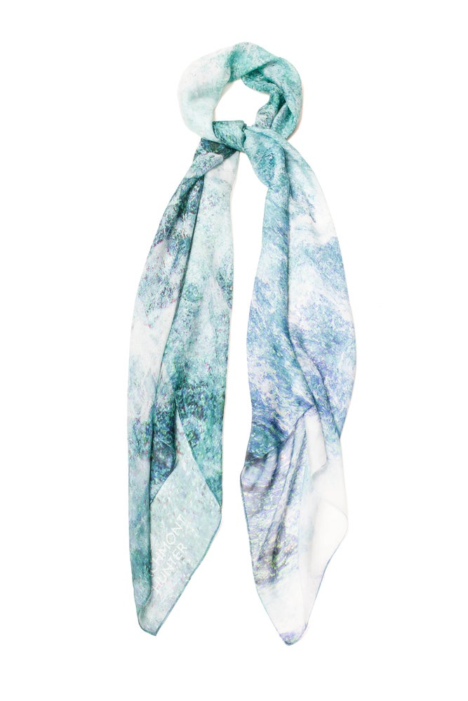 Image of Adventure at Sea Silk Chiffon Scarf