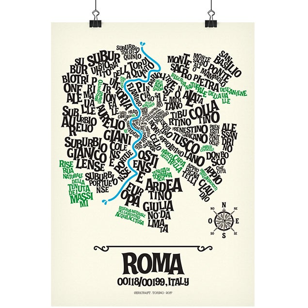 Image of ROMA - Typographic Map