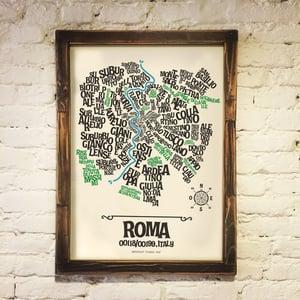 Image of ROMA - Typographic Map